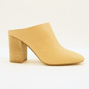 VINCE Faris Block High Heel Mule Leather 6